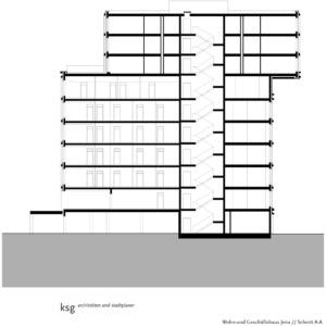 Schnitt AA | Bild: ksg-architekten