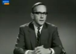 Günter Gaus erläutert am 3. Dezember 1967, warum er es für richtig hält, mit Rudi Dutschke über dessen systemkritische Gedanken zu sprechen.