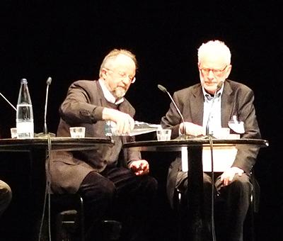 Werner Oechslin und Stanislaus von Moos (Bild: Ursula Baus)