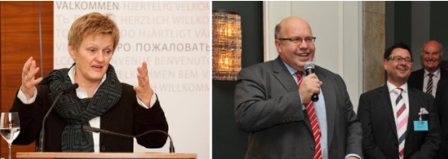Man lädt die Politik zu Gesprächen ein: Renate Künast (Grüne) und Peter Altmeier (CDU). (Bilder: Pressebild heuer-dialog)