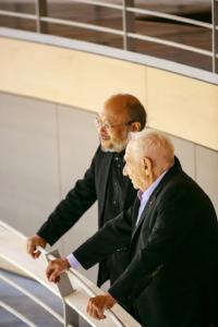 Toyota und Frank Gehry im Pierre Boulez Saal (Foto: Thomas Rosenthal)