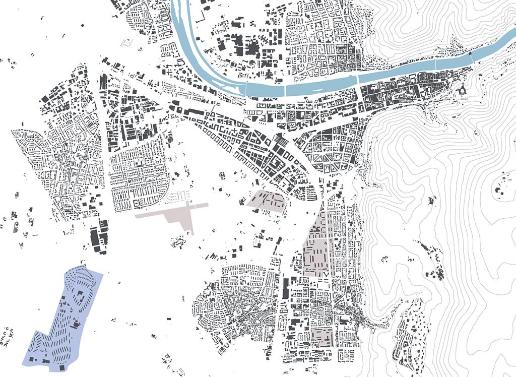 Rechts unten im Plan das Konversiongelände (Plan: Stadtplanungsamt Heidelberg)