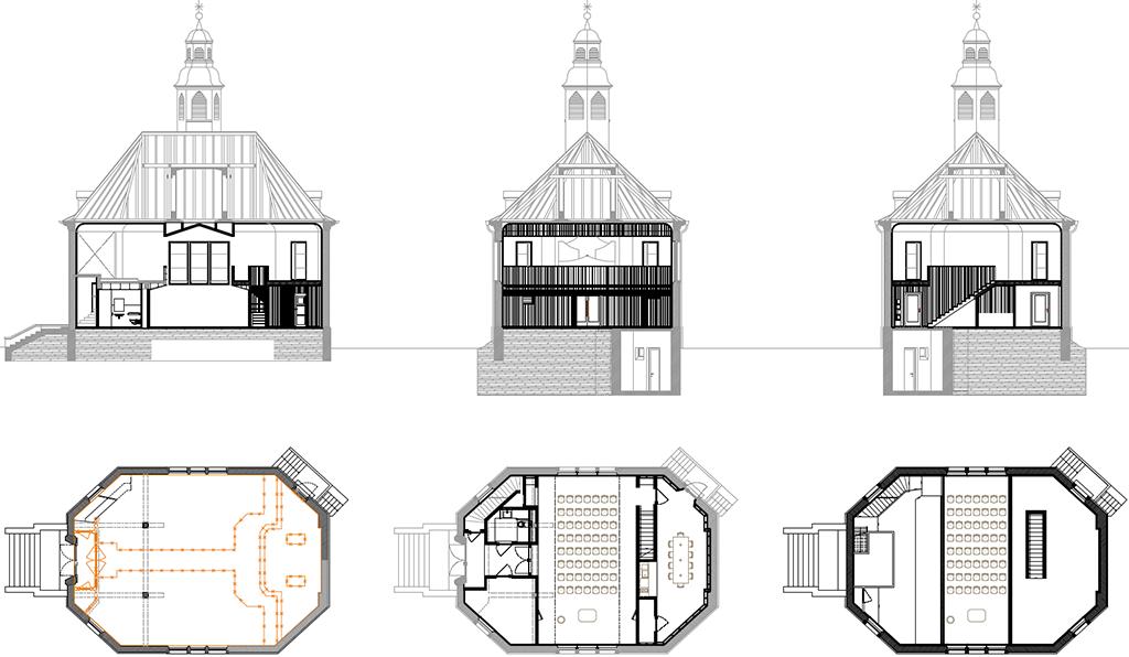 Die Neuausrichtung des Kirchenraums ermöglichte den neuen Grundriss.