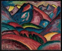 Alexej Jawlensky: Oberstdorfer Landschaft, 1912 | © bpk / Staatliche Kunsthalle Karlsruhe