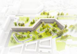 Kleiburg: Große Freiräume wurden umstrukturiert, die stadträumlich-architektonische Figur blieb erhalten. (Bild: Mies van der Rohe Stiftung)