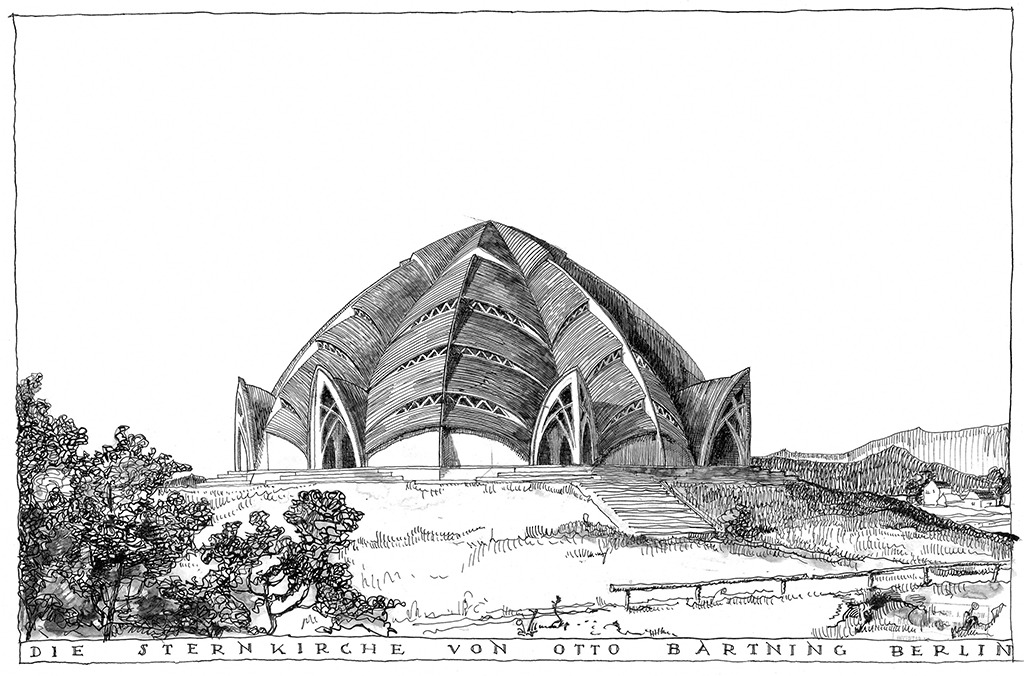 1722_AT__Bartning_Sternkirche_Zeichnung