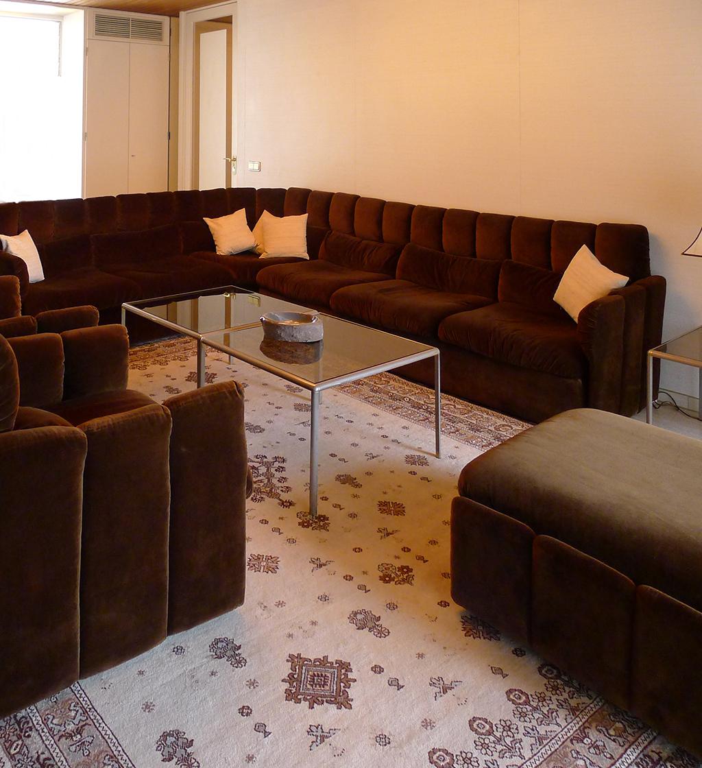 Nach den offiziellen Gesprächen zog sich Helmut Kohl mit Gästen in ein kleineres Besprechungszimmer zurück. Nach seinem Geschmack eingerichtet, zeugt es von zeittypischer Wohnlichkeit. (Bild: Ursula Baus)