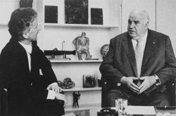 Helmut Kohl und Wolfgang Bachmann (Bild: Baumeister 6.2001)