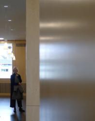 Jorunn Ragnarsdóttir im Foyer (Bild: Ursula Baus)