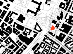 Lageplan – rot das Wilhelmspalais
