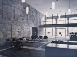 Das Foyer in den 1960er-Jahren: ein halböffentlicher, jedermann offen stehender Bereich (Bild: Archiv Stadtbibliothek)