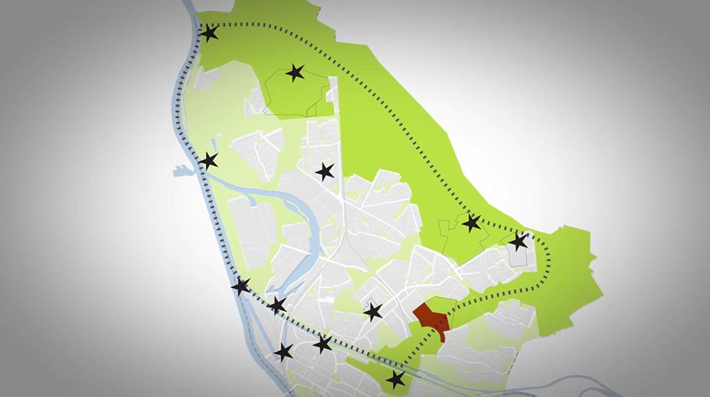 Gen Nordosten erstreckt sich das Gelände, mit dem Mannheims Innenstadt dank grüner Bereiche aufgewertet werden soll. (Bild: www.buga2023.de)