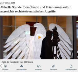 Aktuelle Stunde zur Erinnerungskultur (Bild: Deutscher Bundestag)
