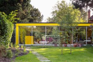Haus Rogers sr., gebaut von Su und Richard Rogers 1969 in London für seine Eltern (Bild: Büro Rogers, Tim Crocker)