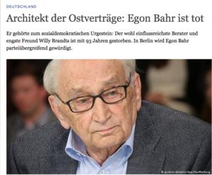 """In würdigen Nachrufen wird die Bezeichnung """"Architekt"""" gern gewählt. (Bild: http://www.dw.com/de/architekt-der-ostvertr%C3%A4ge-egon-bahr-ist-tot/a-18659756)"""