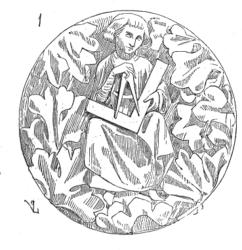 Mittelalterliche Darstellung eines Architekten, Semur en Auxois (Bild: Wikipedia)