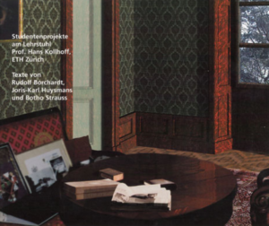 """Dokumentation studentischer Arbeiten an der ETH Zürich zum Thema """"Wohnen"""", erschienen 1999"""