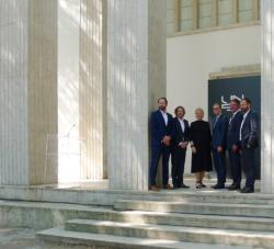 Von links: Wolfram Putz, Lars Krückeberg, Marianne Birthler, Berlins OB Michael Müller, Staatssekretär Gunther Adler und Thomas Willemeit (Bild: Ursula Baus)