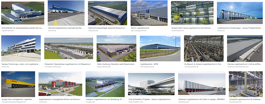 Logistikzentren – Flächenfraß sondergleichen mit entsprechenden Verkehrsströmen (Bild: Screenshot)