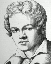 """Der junge Karl Friedrich Schinkel, abgebildet in Ludwig Bechsteins """"Zweihundert deutsche Männer in Bildnissen und Lebensbeschreibungen"""", Leipzig 1854"""