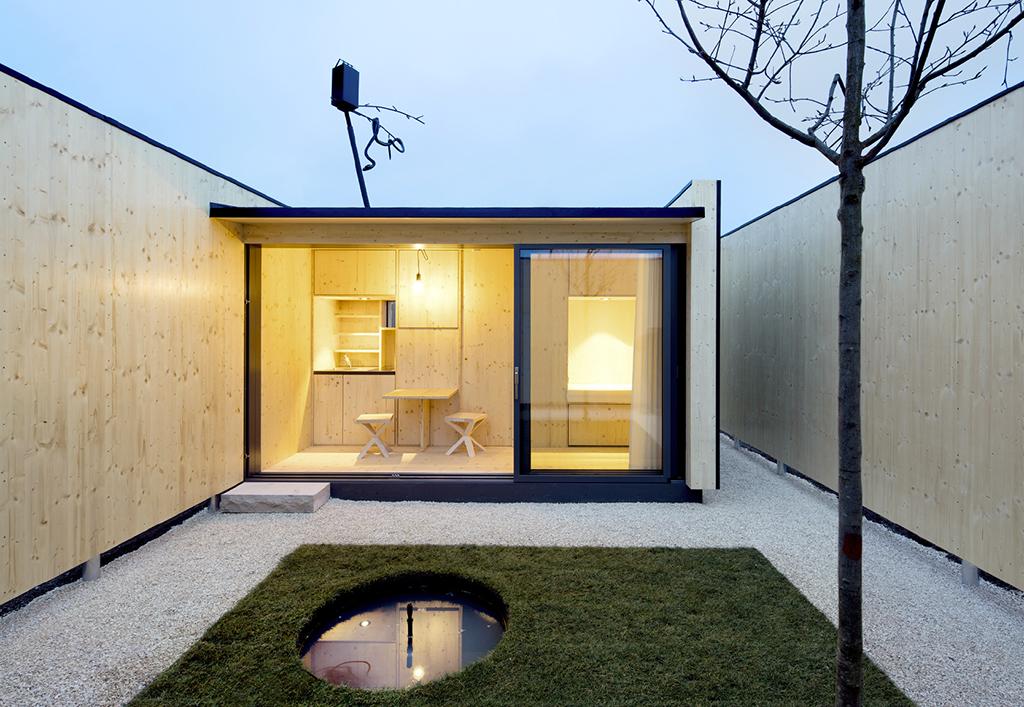 Mikrohofhaus in Ludwigsburg vom Atelier Kaiser Shen (Bild: Nicolai Rapp)