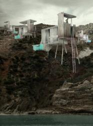 Häuser in der Wüste um nichts zu tun (Zeichnung: Aristide Antonas)