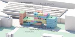 Struktur des FRIZZ23, einer Baugruppe für kulturelles Gewerbe (Bild: FRIZZ23)