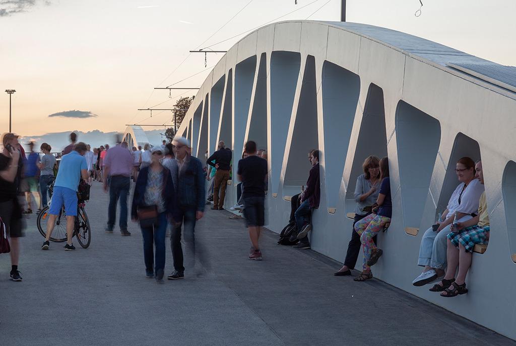 Eröffnung der Brücke im Herbst 2018