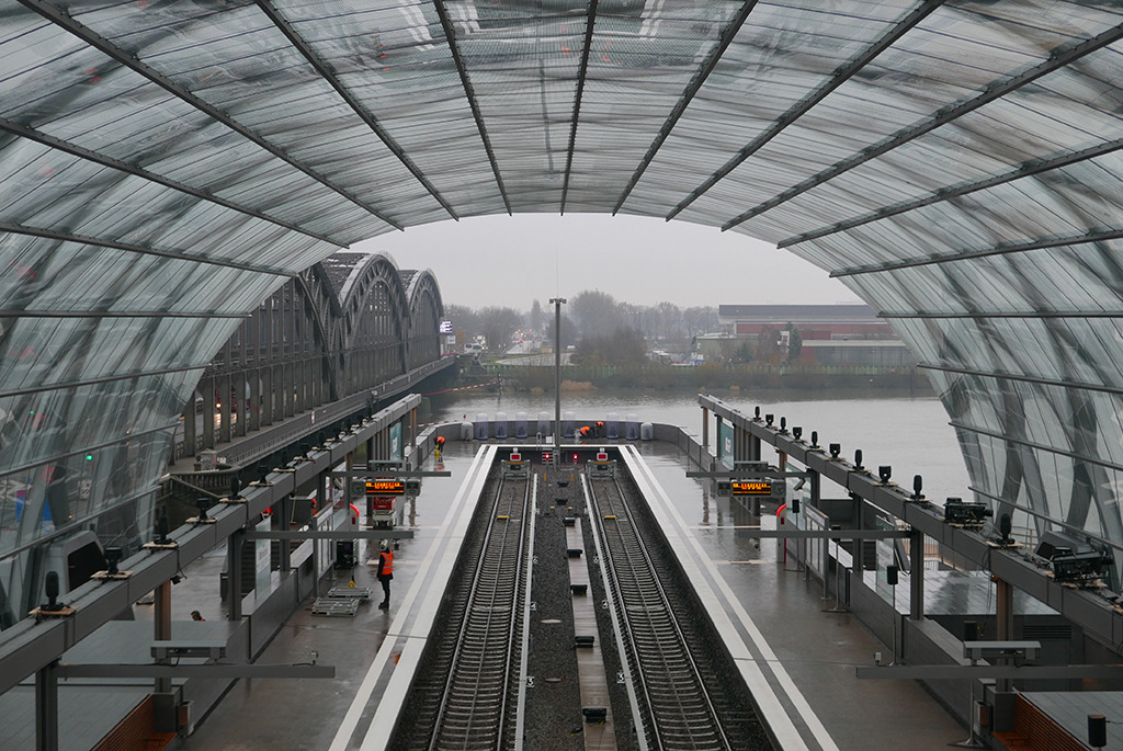 Reminiszenz: Blick zur alten Stahlbrücke (Bild: Olaf Bartels)