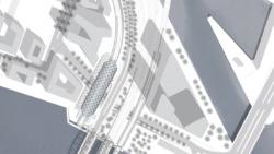 Lageplan der U-Bahnstation der U4 an der Zweibrückenstraße zwischen Billhafen und Norderelbe (© gmp, Hamburg)