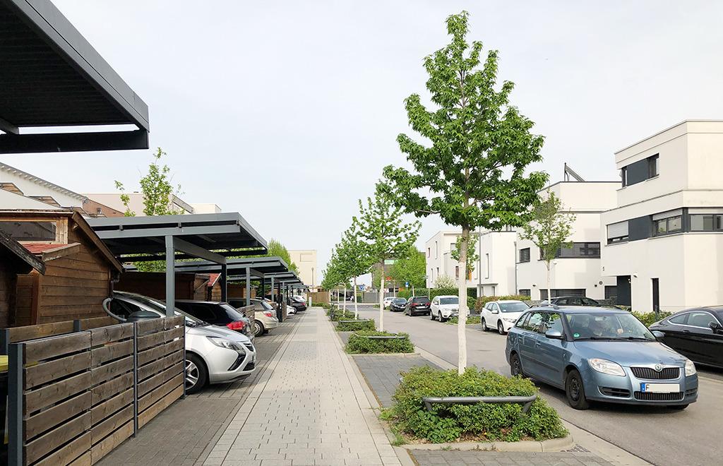 """Hier leben """"Städter""""? """"Urbane Erweiterung nahe Frankfurt (Bild: Ursula Baus)"""