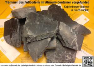 Illegaler Abbruch: Zerstörter Bodenbelag der Hedwigskathedrale (Bild: Werner J. Kohl, 5. September 2019)