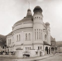 Die 1938 in Brand gesetzte Synagoge