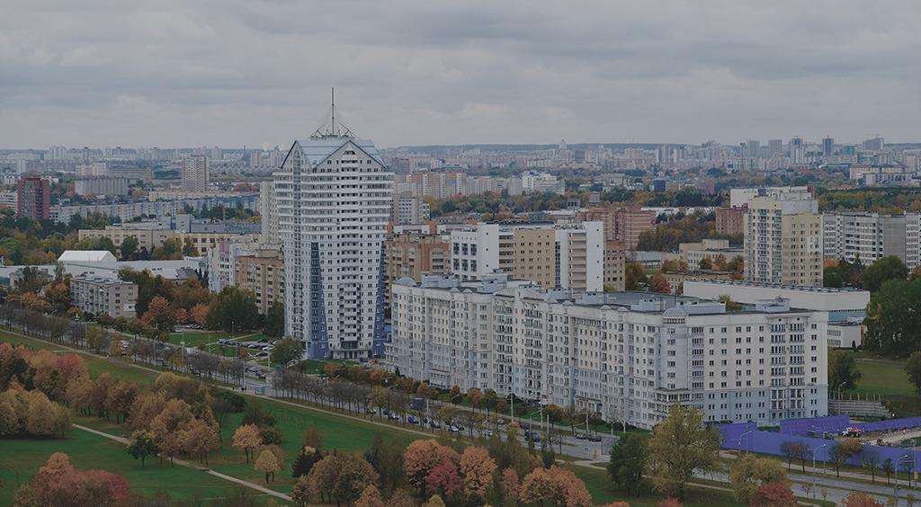 Groß und dicht bebaut: die Randlagen von Minsk im östlichen Teil (Bild: Milena Kula)