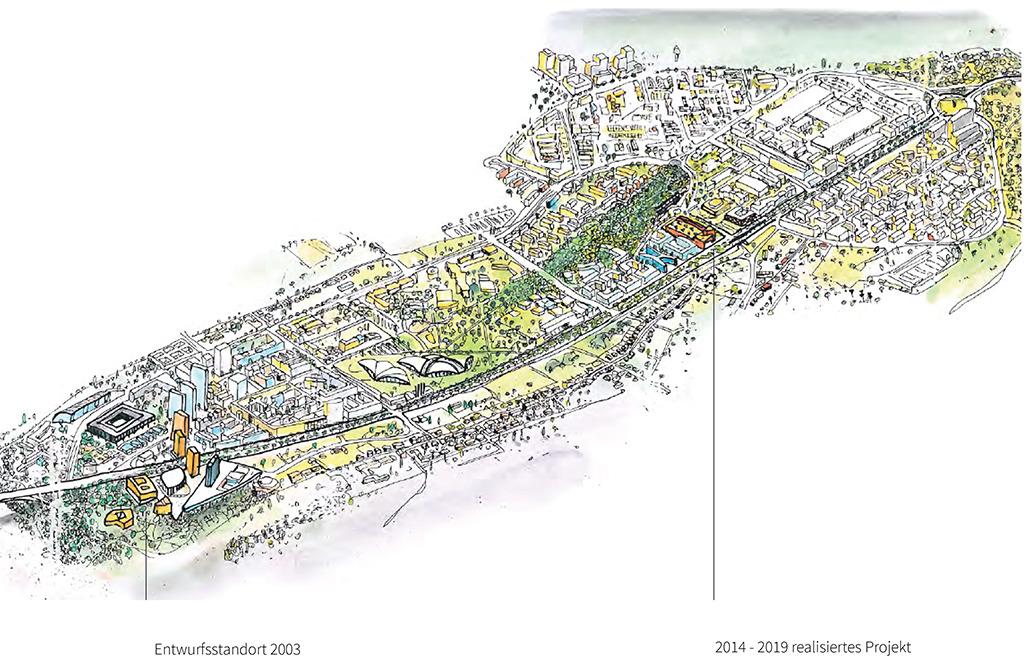 Standortverlegung: Von der Innenstadt hinaus in die Bürostadt Kirchberg (Bild: Bolles+Wilson)