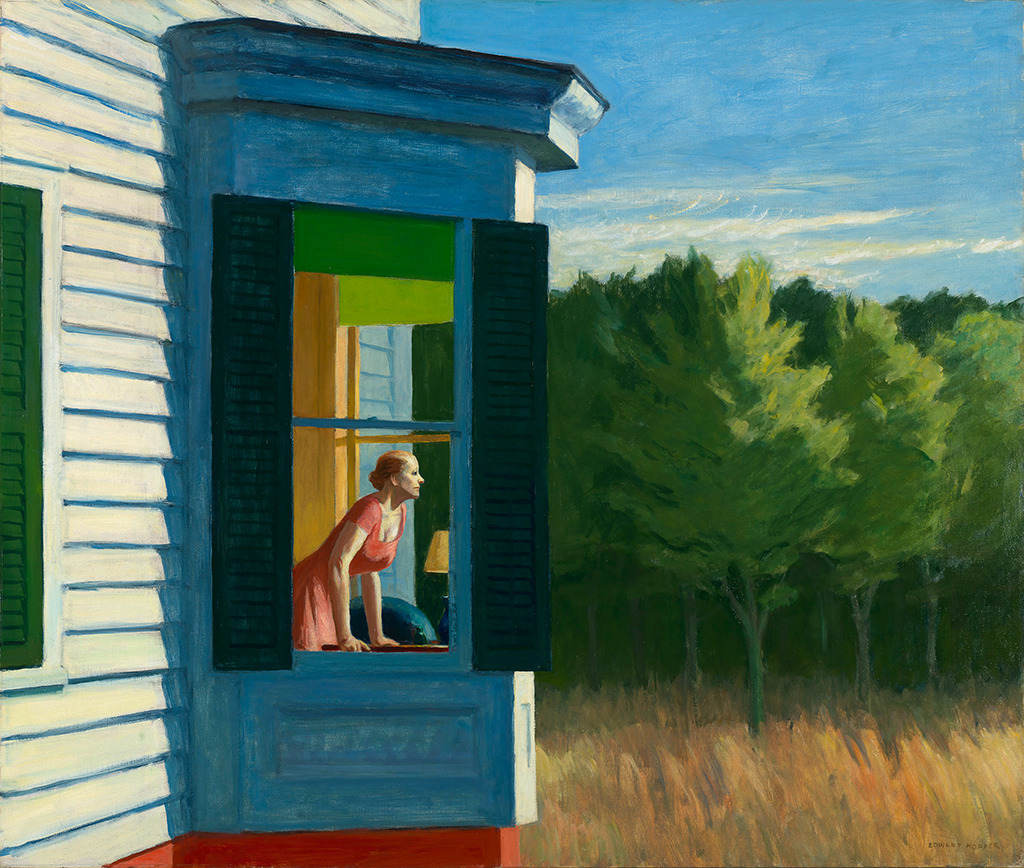 Edward Hopper: Cape Cod Morning, 1950. Öl auf Leinwand, 86,7 x 102,3 cm. Smithsonian American Art Museum, Gift of the Sara Roby Foundation (© Heirs of Josephine Hopper / 2019, ProLitteris, Zürich Foto: Smithsonian American Art Museum, Gene Young)