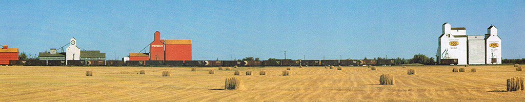 """1983 erschien ein db-Kalender zum Thema """"Farbige Giganten"""", der mit Fotografien von Getreidesilos im kanadischen Saskatchevan bestückt war."""
