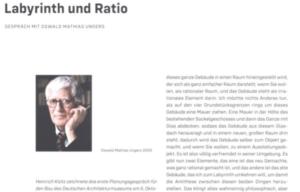 Roland Burgard sprach bereits 2005 mit Oswalt Mathias Ungers, dem Architekten des Deutschen Architekturmuseums in Frankfurt. (Bild: aus dem Buch)