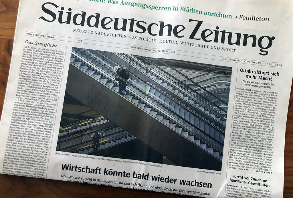 """Die """"Süddeutsche"""" vom heutigen Tag (31.3.2020): Frohe Botschaft vom baldigen, 2021 sogar ungewöhnlich hohen Wirtschaftswachstum. Damit wird alles gut?"""