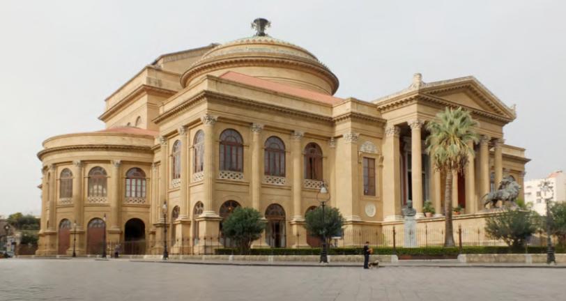 Das Teatro Massimo Vittorio Emanuele in Palermo, ein realisierter Wettbewerbsgewinn des Architekten Giovanni Battista Filippo Basile