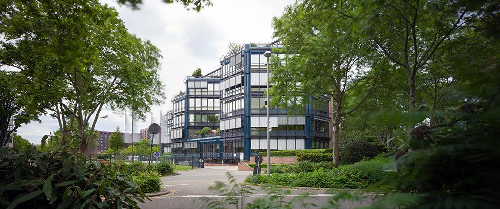 ÖVA-Haus Mannheim von Helmut Striffler; 1. Bauabschnitt 1975-1977, 2. Bauabschnitt 1992-1994, Wettbewerb 1974 (Bild: Wilfried Dechau)