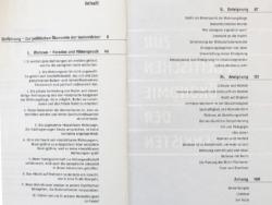 Ein ungewöhnliches Inhaltsverzeichnis, das die Breite des Themas andeutet (Bild: Rotpunktverlag)