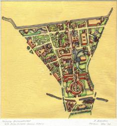 Peter Riemann: Konzept Südliche Friedrichstadt, Cornell Sommerakademie für Berlin, 1977 (© Peter Riemann)