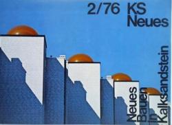 Ja, auch das gab es: Klaus Kinold fotografierte auch in Farbe. Die Kalksandstein-Publikationen hatten bei Studetinnen Kultcharakter.