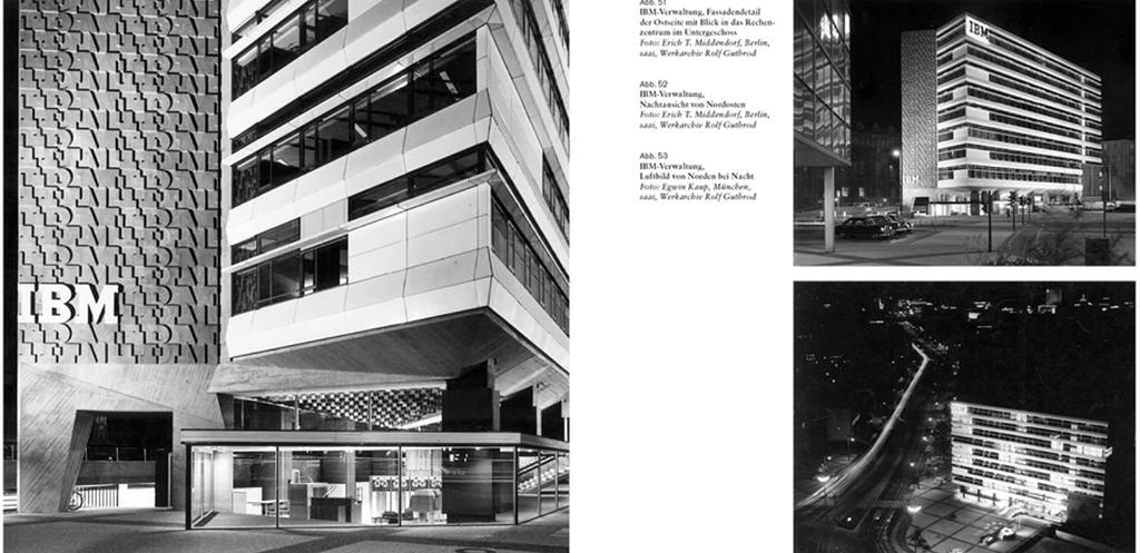 Verwaltungsgebäude der IBM am Ernst Reuter-Platz in Berlin, gebaut von Rolf Gutbrod in den Jahren 1959-63 (Bild: aus dem besprochenen Buch)