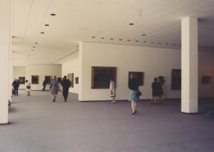 Eröffnungsausstellung im Untergeschoss, 1968 (Bild: Landesarchiv Berlin, Horst Siegmann)