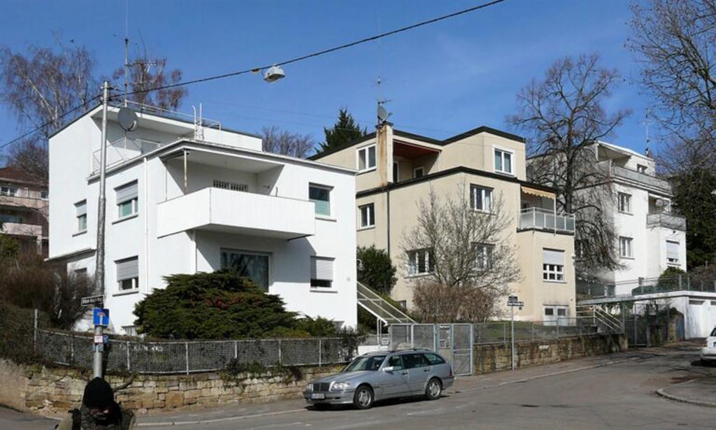 """Einfamilienhausgruppe """"Klein Palästina"""", Cäsar-Flaischlein-Straße in Stuttgart (Foto: Dietrich W. Schmidt)"""