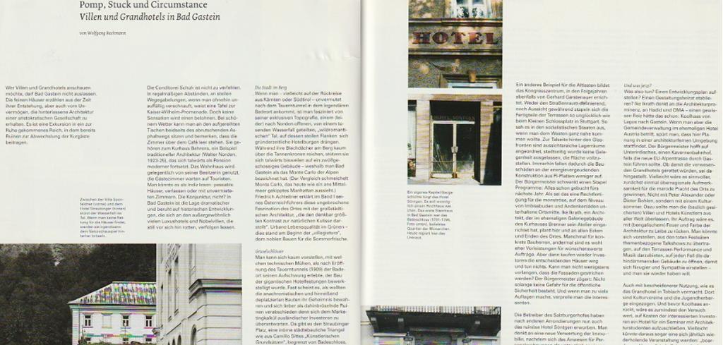 """Bad Gasteins """"Pomp, Stuck und Circumstance"""" im Baumeister 10/2003"""