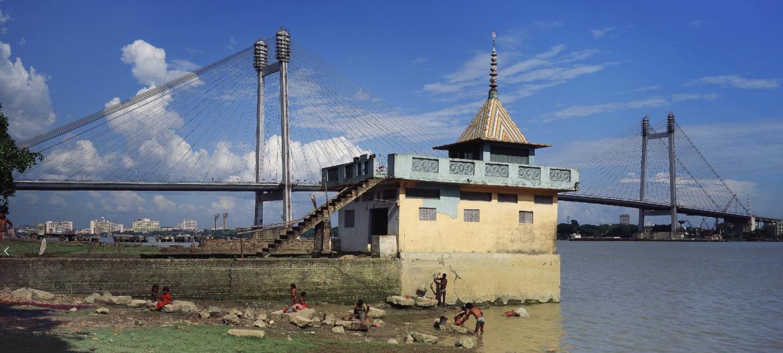 Die zweite Hooghly-Brücke in Kalkutta, 1993